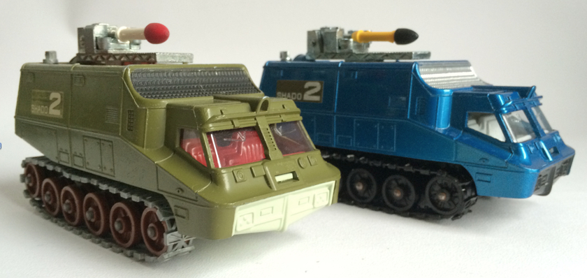 First and last versions of Dinky 353 Shado 2