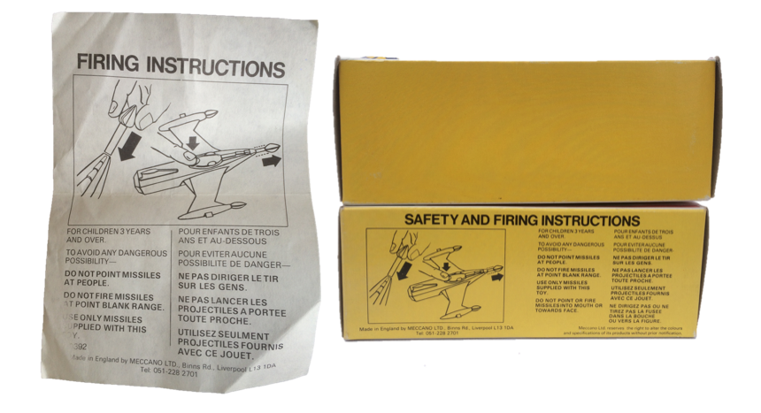 Later boxes had firing instructions on base